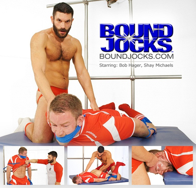 Bob Hager ties soccer stud Shay Michaels for Boundjocks