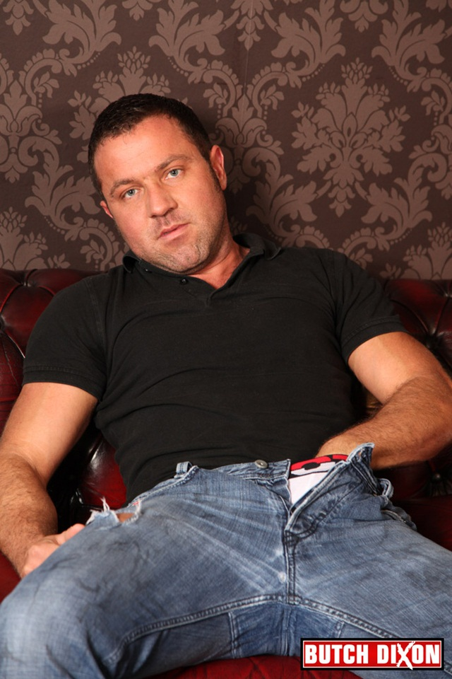 Butch Dixon: Beefy Julian Michaels, hung hunk and an exhibitionist, just how we like em!