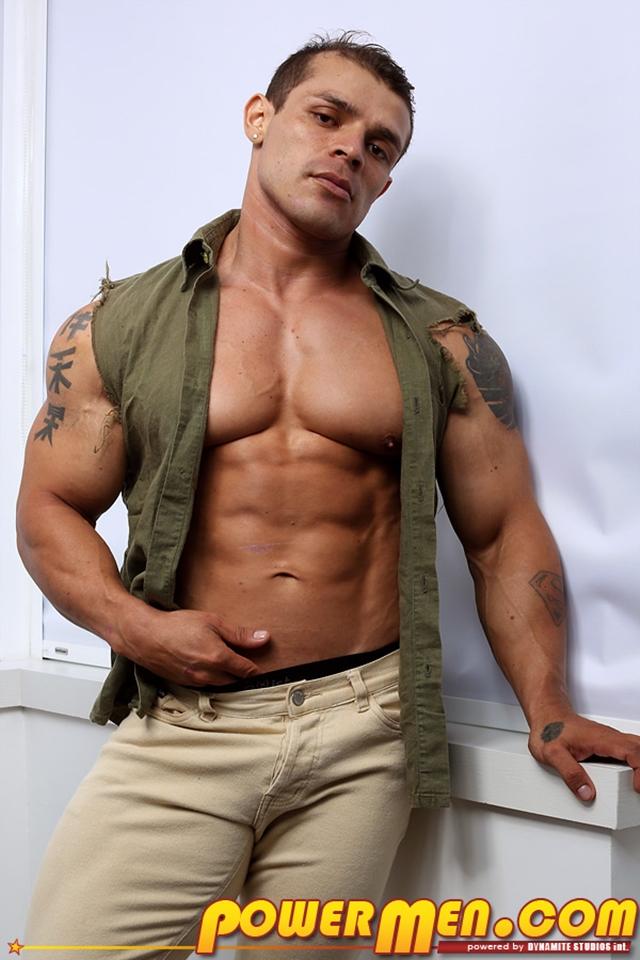 Muscled bodybuilder Clayton Cobb