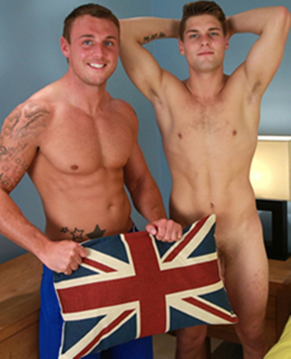 english lads  Sneak Peek Tyler Hirst sucks Ricky Hamptons big 8 inch uncut dick