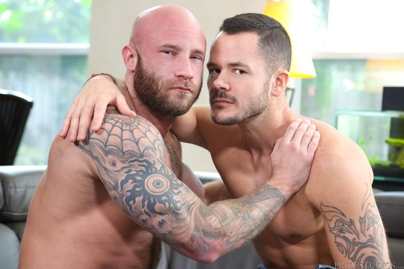 Valentin Petrov's fat uncut cock pumps Drake Jaden's tight ass hole
