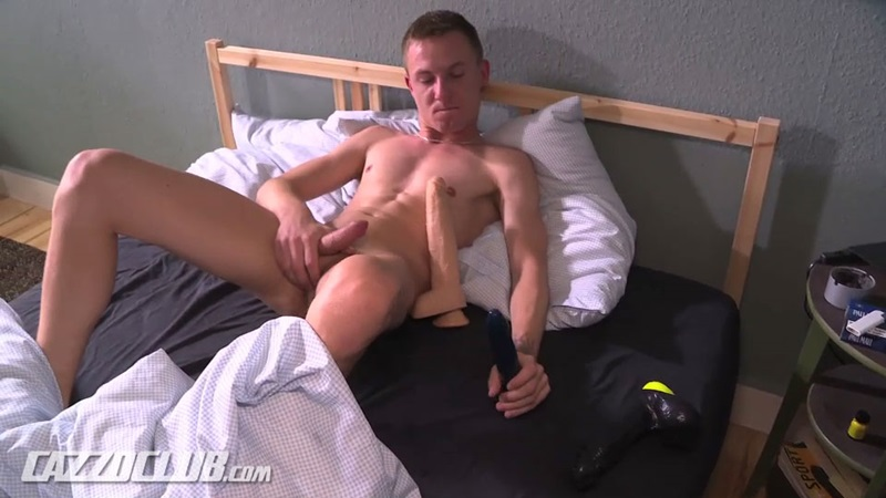 Arkadius fucks his fine ass on a number of massive dildos