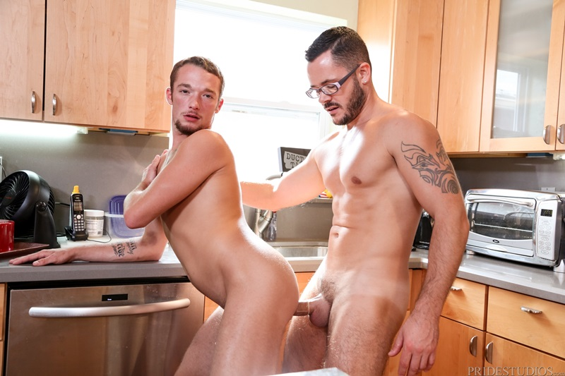 Gay kitchen fuck