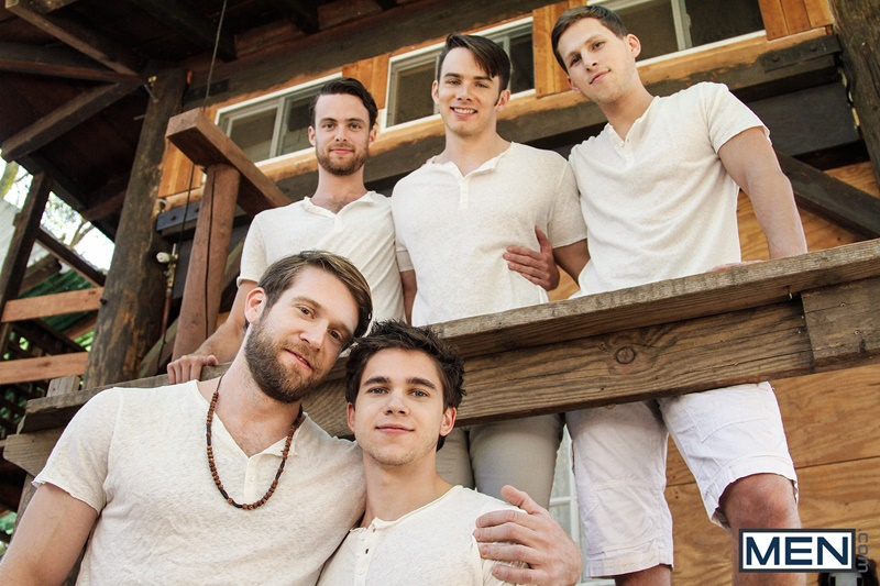 Gay fuck orgy Addison Graham, Brandon Moore, Colby Keller, Roman Todd and Will Braun