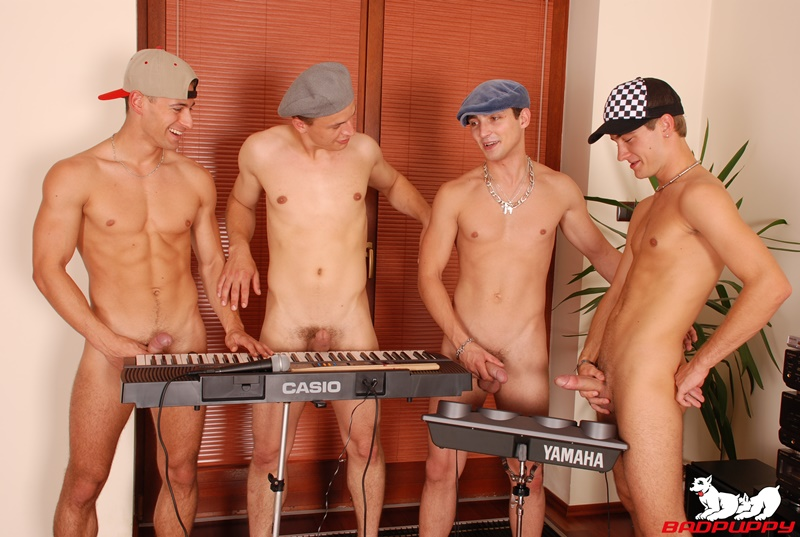 Hardcore naked boys Chose Armando, David Browning, Tom Hawai and Sam Robins ass fucking orgy