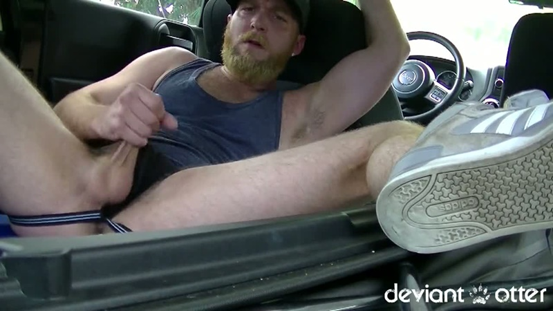 Deviant Otter Devin Totter jerks himself off in someone's driveway in Florida