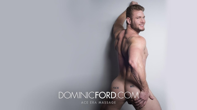 Dominic Ford it ends with Ace Era's exploding cum shot all over his chiseled abs