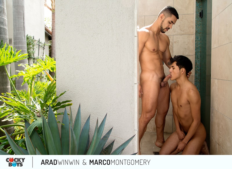 Arad WinWin's huge muscle dick dominates Marco Montgomery's tight smooth young ass