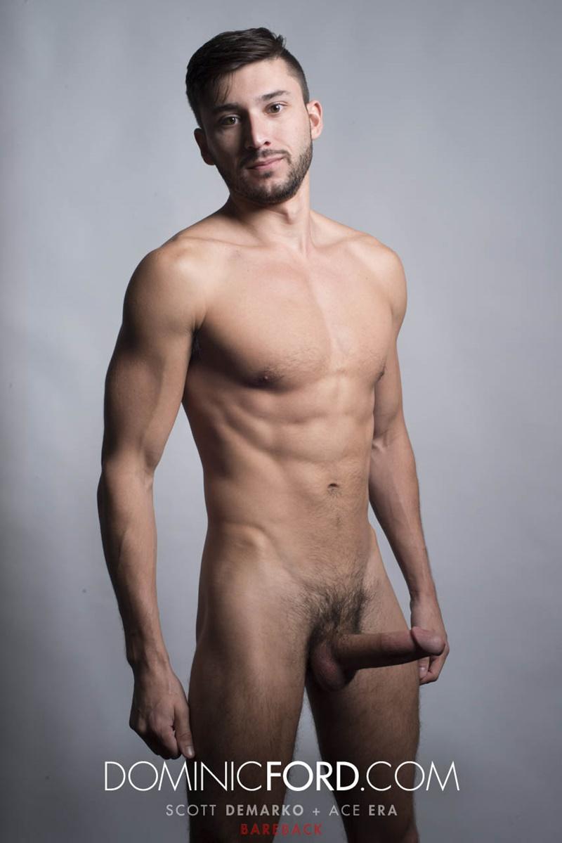 Scott DeMarco breeds Ace Era's bareback ass shoving his raw cock deep into his bare ass hole