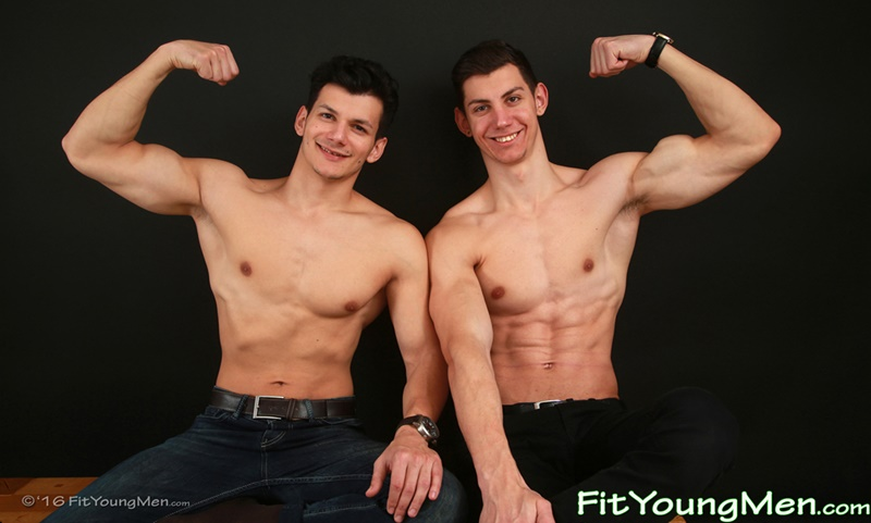 Sexy ripped young muscle boy Guy Craig strips and plays with his brother Alex Craig