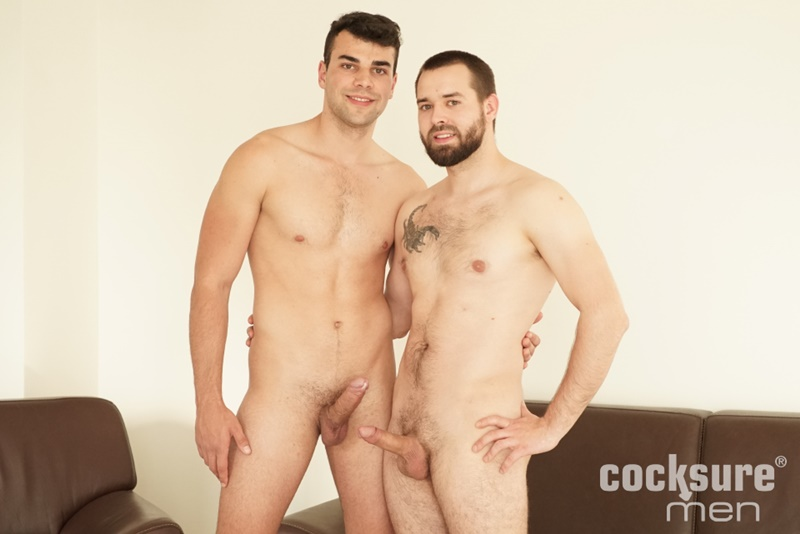 Joel Vargas' huge bare dick bareback fucking Martin Dajnar's tight muscular asshole