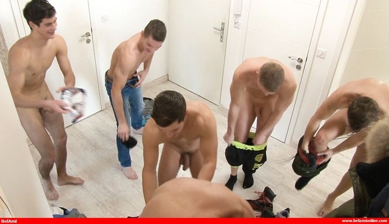 Belami orgy with Adam Archuleta, Hoyt Kogan, Joel Birkin, Rocco ALfieri, Yuri Alpatow and Scott Reeves