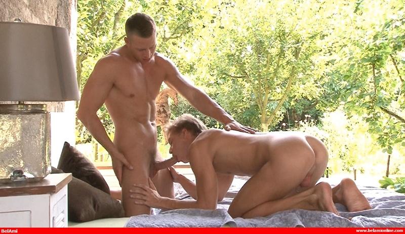 Sexy blond muscle boys Zac Dehaan and Christian Lundgren hardcore bareback ass fucking