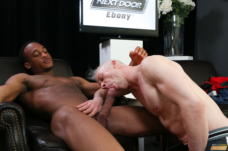 Interracial ass fucking Ryan Russell's asshole fucked by black stud Trent King's huge dick