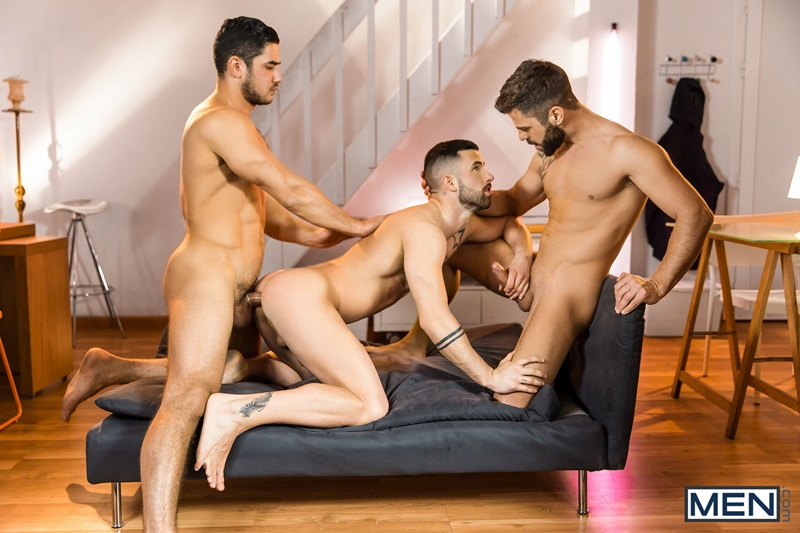 Sexy naked hunks Dato Foland, Hector De Silva and Sunny Colucci hardcore ass fucking orgy