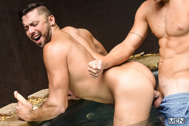 Men for Men Blog Justin-Matthews-and-Shane-Jackson-dildo-ass-play-Men-com-010-gay-porn-pics-gallery Justin Matthews is shocked to find Shane Jackson in the pool taking a huge dildo up his ass Men
